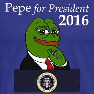 Pepe for President - blue - Men's Premium T-Shirt