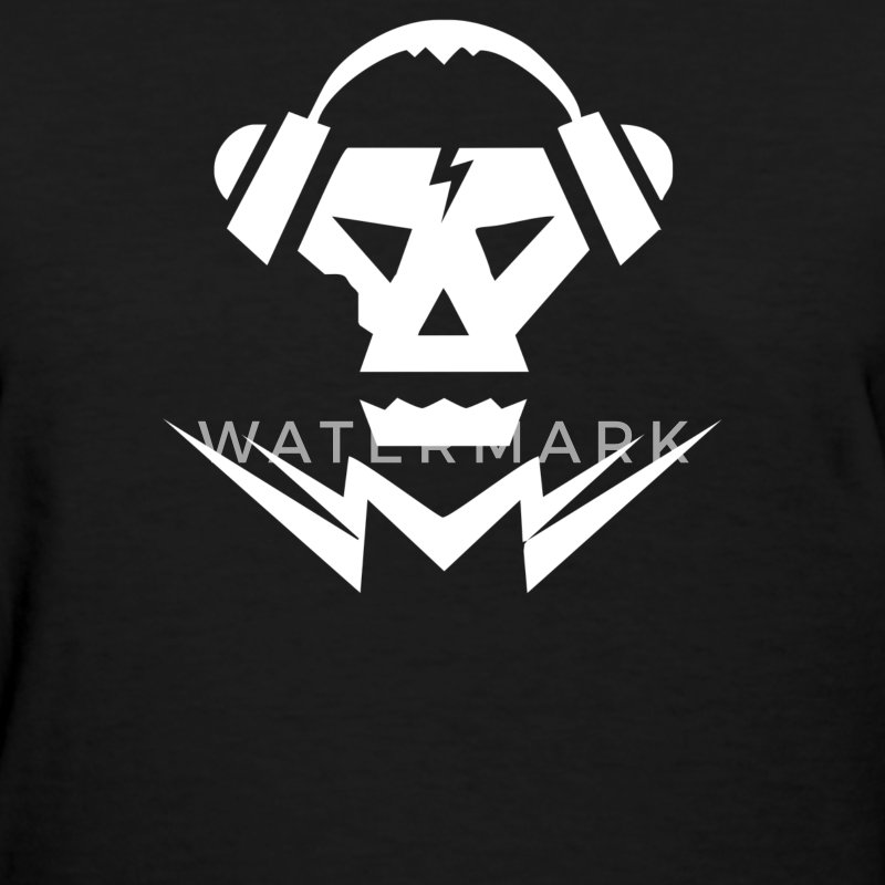 Dubstep Music Logo Skull - Women's T-Shirt