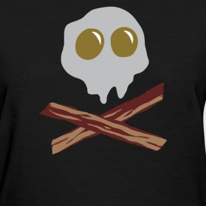 Egg Bacon Skull Bones funny - Women's T-Shirt