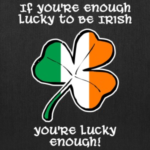 Lucky enough to be Irish Bags & backpacks - Tote Bag