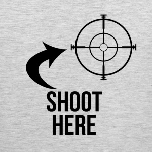 SHOOT HERE HEART SNIPER TARGET RIFLE SCOPE Sportswear - Men's Premium Tank