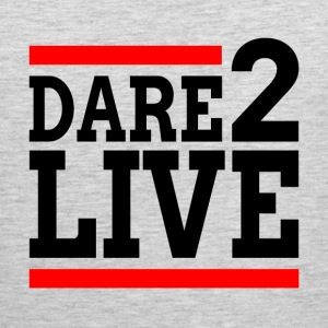 DARE TO LIVE MOTIVATION INSPIRATION Sportswear - Men's Premium Tank