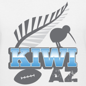 Kiwi AS with silver fern bird and rugby ball Women's T-Shirts - Women's V-Neck T-Shirt