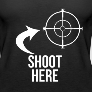 SHOOT HERE HEART SNIPER TARGET RIFLE SCOPE - Women's Premium Tank Top