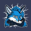 STUCK Blue Fox (front/back) - Women's Premium T-Shirt