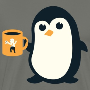 Cute Penguin Coffee - Men's Premium T-Shirt
