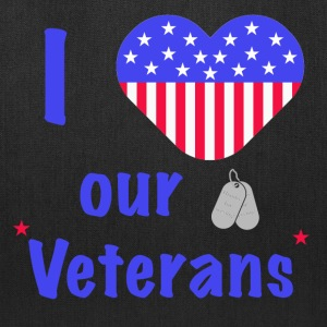 I Heart Our Veterans Bags & backpacks - Tote Bag