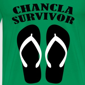 Chancla Survivor1 T-Shirts - Men's Premium T-Shirt