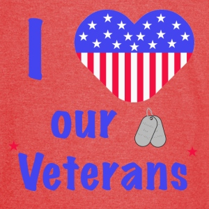 I Heart Our Veterans T-Shirts - Vintage Sport T-Shirt