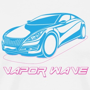 Vapor Wave Car - Men's Premium T-Shirt