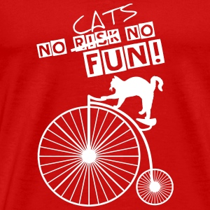 NO CATS NO FUN OUTLINES2 T-Shirts - Men's Premium T-Shirt