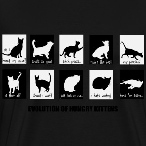 evolution of the HUNGRY kitten T-Shirts - Men's Premium T-Shirt