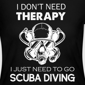 Scuba Diving Therapy Tee - Women's Long Sleeve Jersey T-Shirt