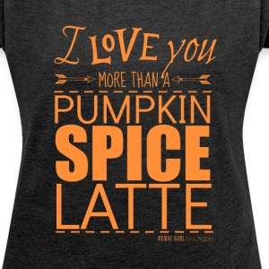 SPICE LATTE - Women´s Rolled Sleeve Boxy T-Shirt