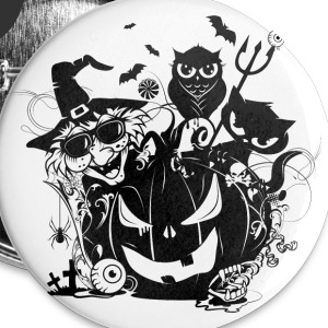 A funny Halloween party Buttons - Small Buttons