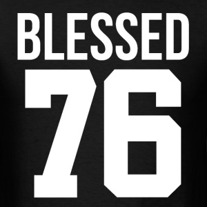 40th Birthday Gift Blessed 1976 Thanksgiving T-Shirts - Men's T-Shirt