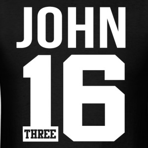 John 3:16 Christian Bible Verse Quote T-Shirts - Men's T-Shirt