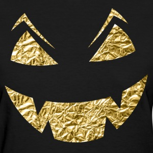 Gold Halloween Carved Face - Women's T-Shirt