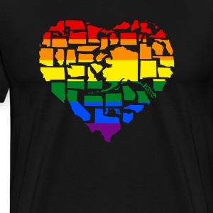 Gay Pride in all 50 State T-Shirts - Men's Premium T-Shirt