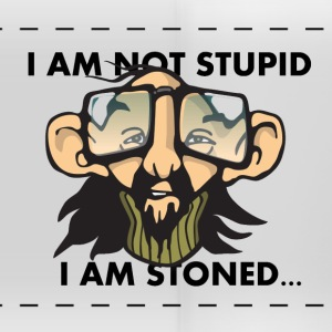 I AM NOT STUPID, IM STONED - Panoramic Mug