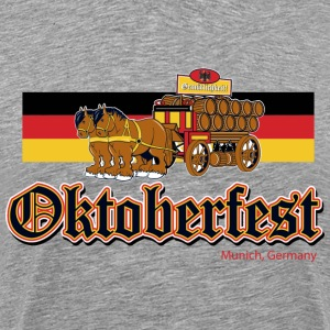 Oktoberfest Beer Wagon - Men's Premium T-Shirt