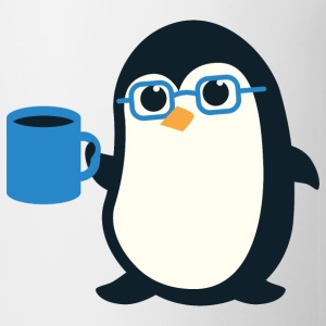 Penguin Coffee Cute - Blue Glasses - Coffee/Tea Mug