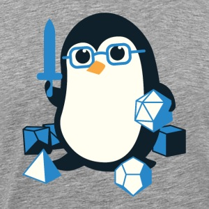 Penguin Coffee Cute - Dungeons & Dragons - Men's Premium T-Shirt