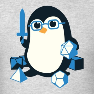 Penguin Coffee Cute - Dungeons & Dragons - Men's T-Shirt