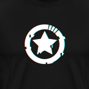 Glitched Star Mens T-Shirt - Men's Premium T-Shirt
