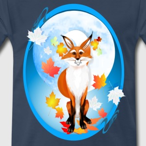 Fall Fox and Wolf Moon-2 - Men's Premium T-Shirt