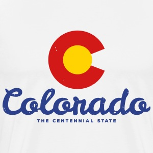 Colorado Badge Vintage - Men's Premium T-Shirt
