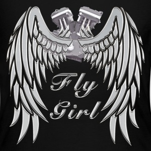 Fly Girl - Chrome 1 - Women's Long Sleeve Jersey T-Shirt