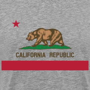 California Flag Bear - Men's Premium T-Shirt