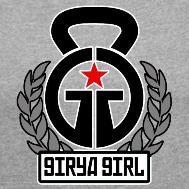 GiryaGirl.com Women's Rolled Sleeve Boxy T-shirt