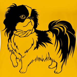 Japanese Chin Dog Line Art - Women's Premium T-Shirt