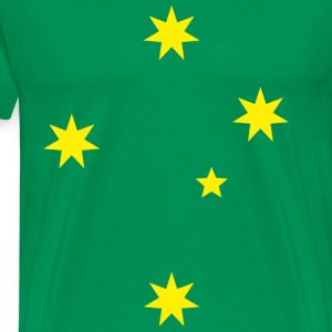 Aussie Green and Gold Southern Cross Tee - Men's Premium T-Shirt