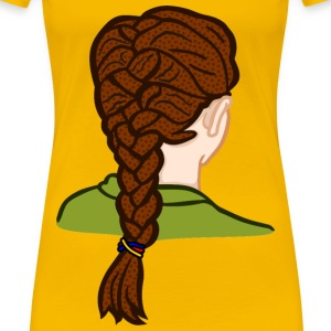 french braid coloured - Women's Premium T-Shirt
