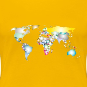 Prismatic World Map 3 - Women's Premium T-Shirt