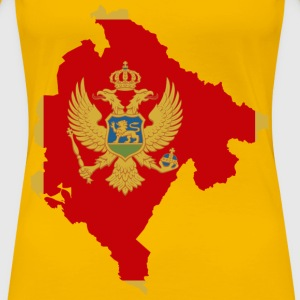 Montenegro Map Flag - Women's Premium T-Shirt