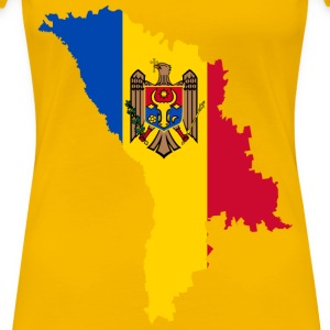 Moldova Map Flag - Women's Premium T-Shirt