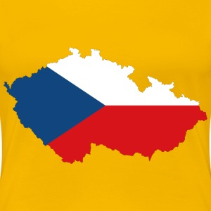 Czech Republic Map Flag With Stroke - Women's Premium T-Shirt