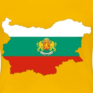 Bulgaria Map Flag With Stroke And Coat Of Arms - Women's Premium T-Shirt