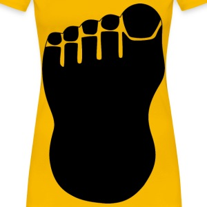 Foot Silhouette - Women's Premium T-Shirt