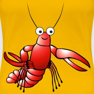 Red cartoon lobster - Women's Premium T-Shirt