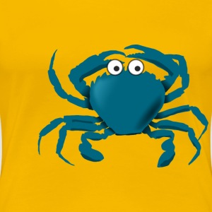 Blue cartoon crab - Women's Premium T-Shirt