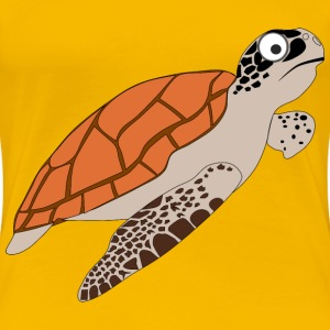 Cartoon Turtle 1 - Women's Premium T-Shirt