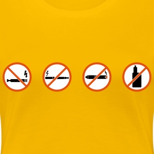 No vaping sign by Rones - Women's Premium T-Shirt