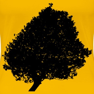 Lonely Tree Silhouette 2 Minus Ground - Women's Premium T-Shirt