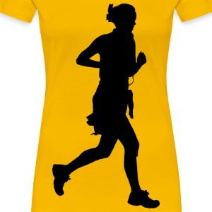 Woman Jogging Silhouette - Women's Premium T-Shirt