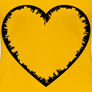 Heart City Silhouette - Women's Premium T-Shirt